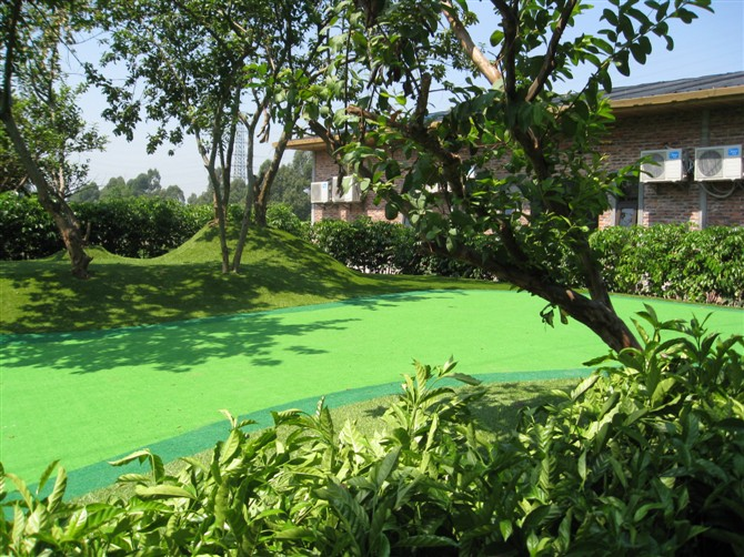 golf turf, synthetic grass for mini golf, indoor landscpae grass